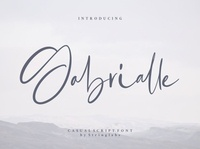 Gabrialle - Casual Script Font