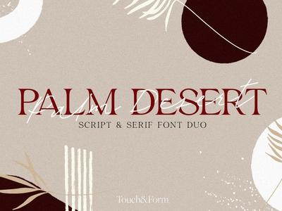 Palm Desert Script & Serif Font Duo