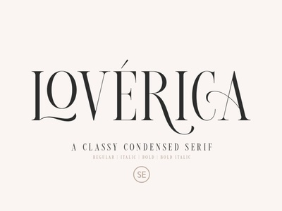 Loverica - Modern Condensed Serif simple modern logo branding elegant serif typeface logo fonts lettering fonts font design fonts collection modern fonts elegant fonts sans serif fonts sans serif font sans serif modern font serif fonts serif font serif modern condensed serif