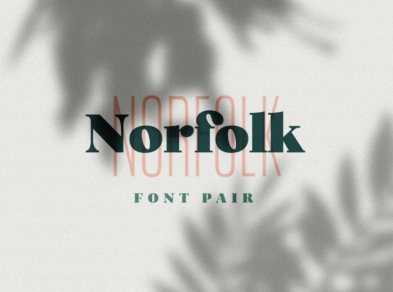 Norfolk - Font Pair Serif & Sans brand simple elegant modern logo fonts lettering fonts modern fonts elegant fonts fonts collection font design serif typeface sans serif typeface sans serif fonts sans serif font sans serif serif fonts serif font serif font serif font pair