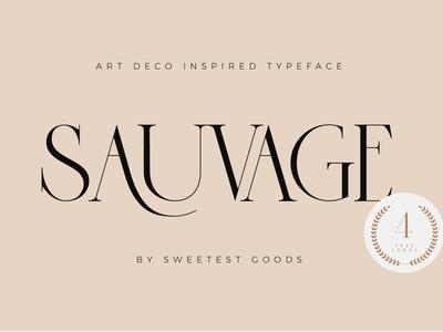 Sauvage - Elegant Font + Free Logos