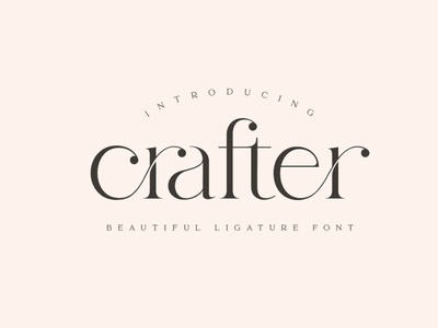 Crafter - Beautiful unique font