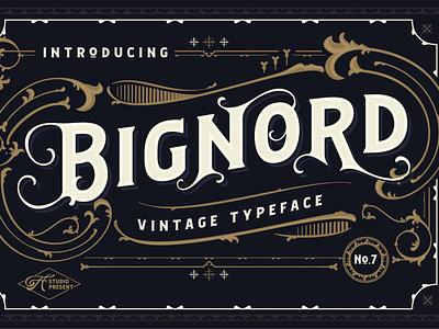 Bignord - Vintage Typeface simple elegant design logo logo fonts sans serif font elegant fonts sans serif serif fonts font design fonts collection retro typeface retro fonts serif font serif retro vintage typeface vintage fonts vintage font vintage