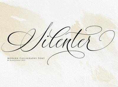 Silenter / Modern Calligraphy Font