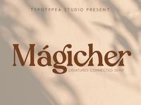 Magicher - Ligature Connected Serif