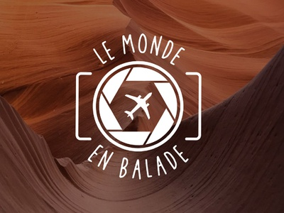 """Logo blog """"Le monde en balade"""""""