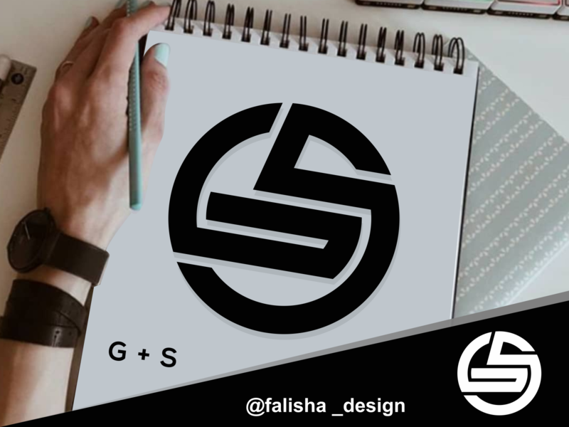 gs monogram logo initial logo design s g sg gs brand identity awesome logoawesome circle 3d monogram illustration abstract vector logo icon flat design branding