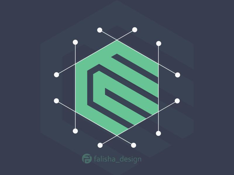 ec monogram logo simple company awesome symbol brand identity c e ce ec circle 3d monogram illustration abstract vector logo icon flat design branding