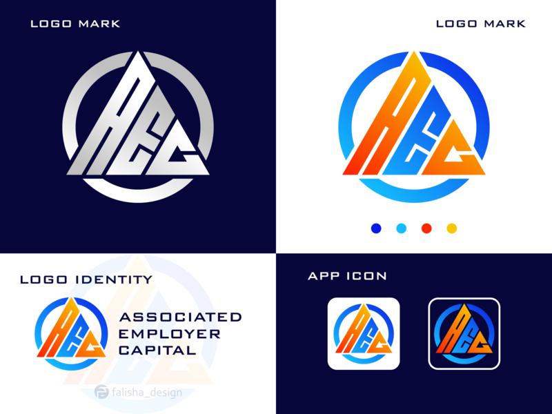 AEC MONOGRAM LOGO designs brand identity initials company logoconstruction c e a aec 3d monogram illustration abstract vector logo icon flat design branding