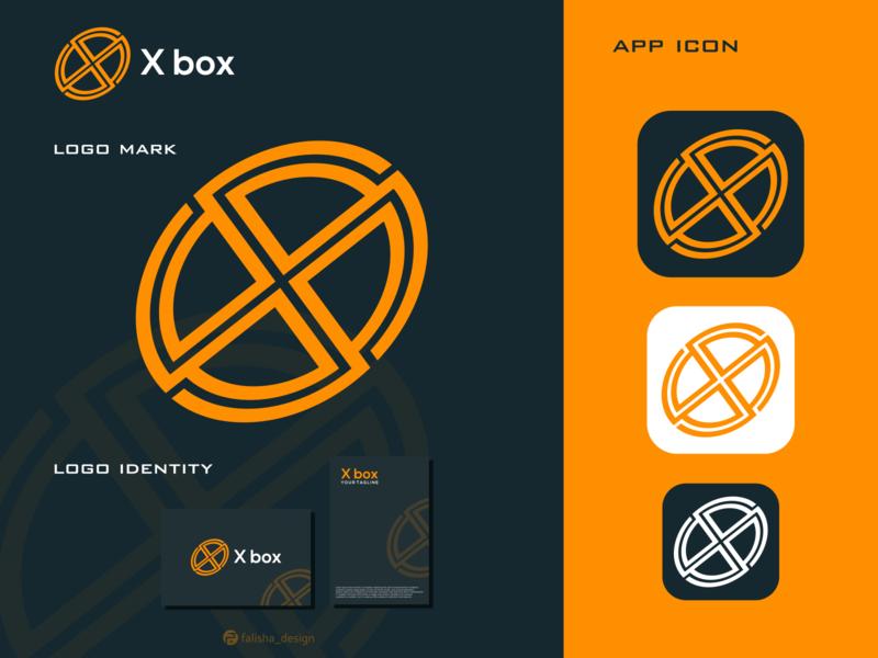 x box logo xbox clothing symbol awesome logo brand identity awesome box x circle 3d monogram illustration abstract vector logo icon flat design branding