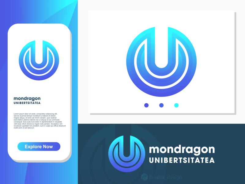 mu monogram symbol development colorful company brand identity u m um mu circle 3d monogram illustration abstract vector logo icon flat design branding