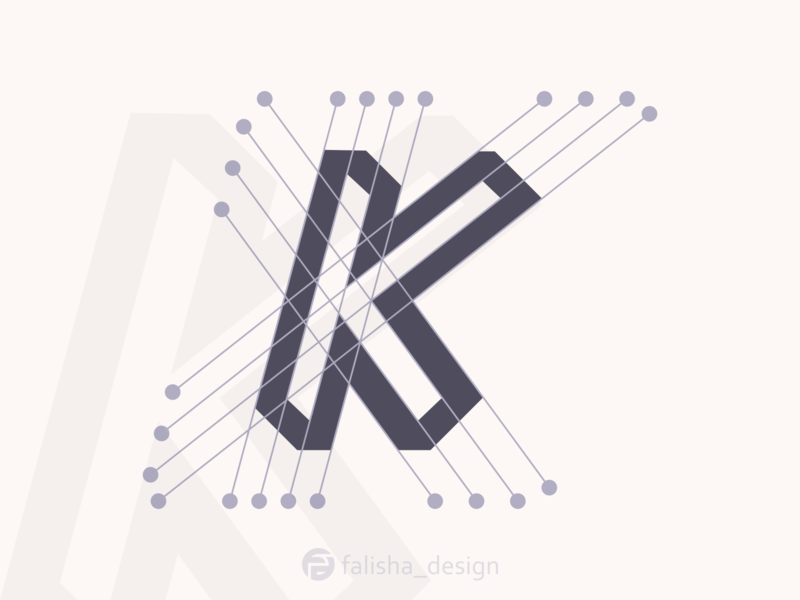 k logo clothing construction company symbol brand identity awesome abstract logo font initial k 3d monogram illustration abstract vector logo icon flat design branding