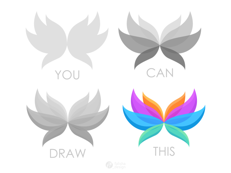 butterfly logo gradient symbol company simple brand identity awesome animal colorful butterfly 3d monogram illustration abstract vector logo icon flat design branding