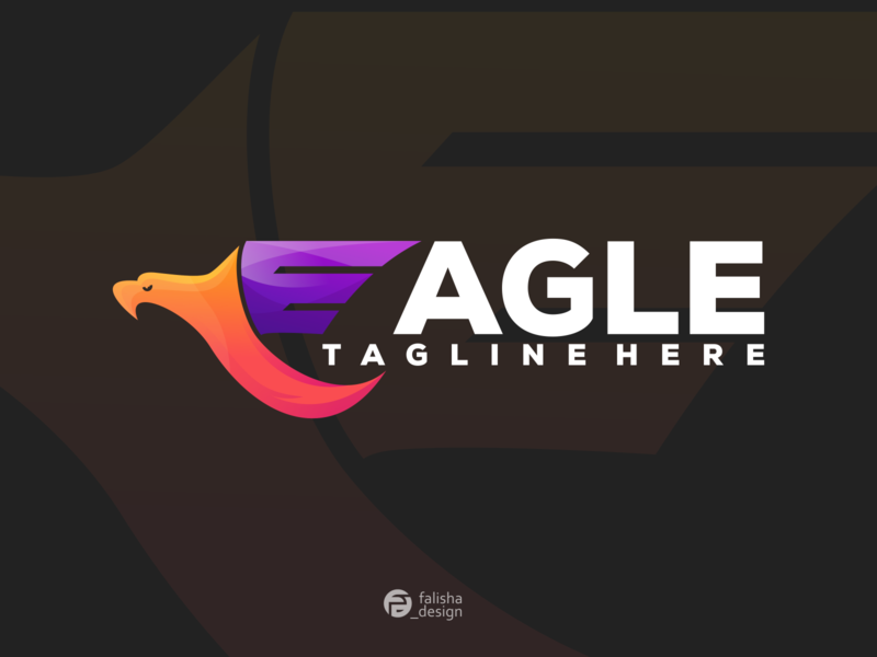 eagle logo colorful eagle logo company concept symbol brand identity awesome america eagle circle 3d monogram illustration abstract vector logo icon flat design branding