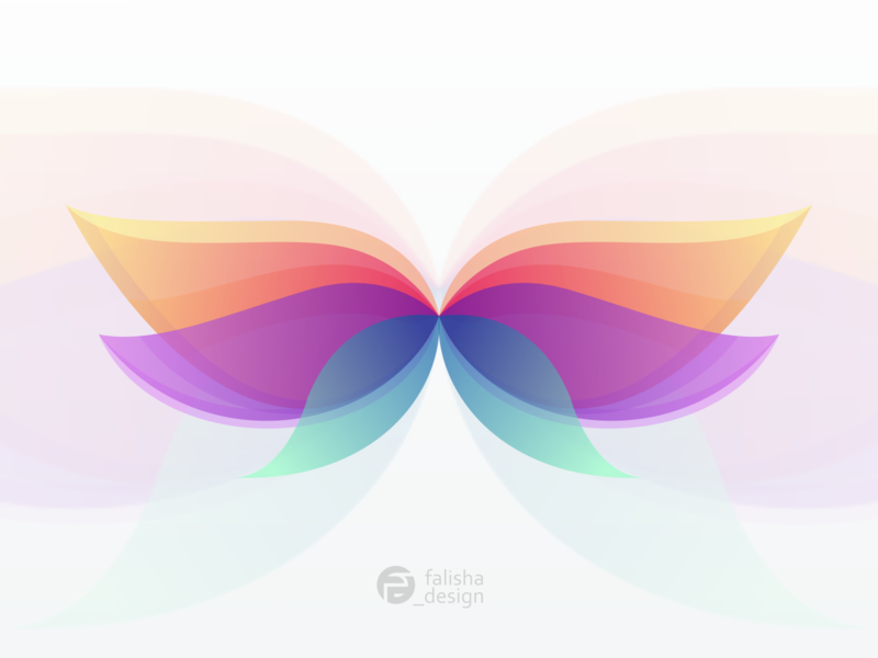 butterfly logo simple sketch desktop brand colorfull brand identity awesome flower animal butterfly monogram 3d illustration abstract vector logo icon flat design branding
