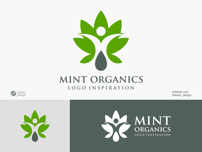 mint organics logo inspiration farm clothing company awesome logoinspiration leaf organics mint brand identity symbol 3d monogram illustration abstract vector logo icon flat design branding