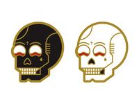 Skull Enamel Pins!