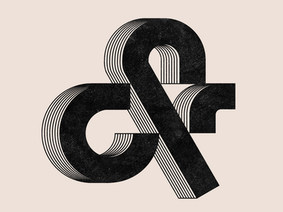 Ampersand grain texture type art graphic design design lettering typography design typography art typography letter type