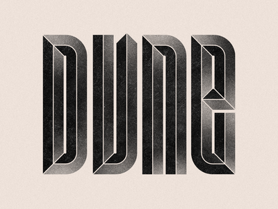 DUNE type art vector letter graphic design typography design typography art grain texture grain typography type lettering