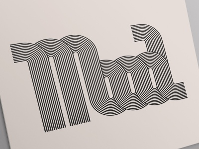 Mood stripes vector typography design lettering typography art typography type