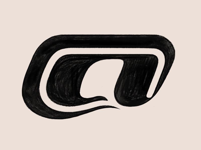 A exploration letter a logo lettermark logo photoshop sketch exploration typography art typography letter type