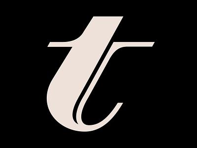 Letter T glyph letterform vector logo typography design typography letter type