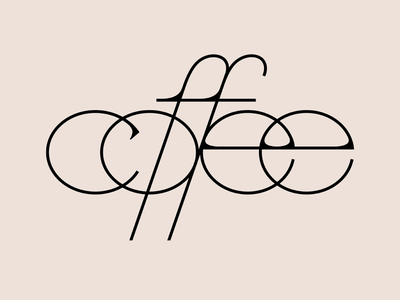 COFFEE logo lettering custom typography customtype type