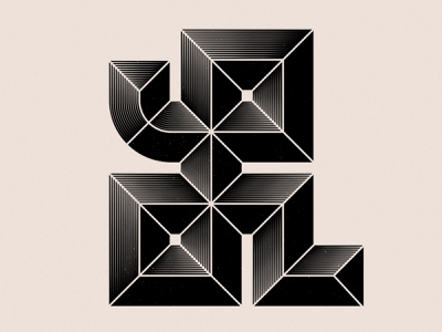Letter L stripes grain graphic design type letterasanartwork creativeletter letterform
