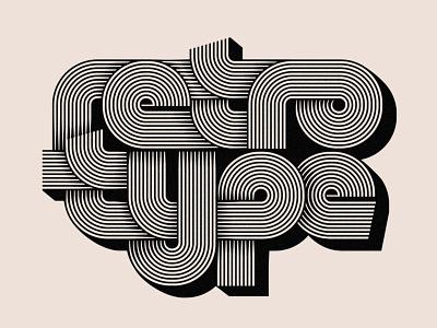 Retro Type lettering stripes grain texture grain vector graphic design typography type