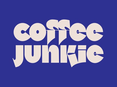 Custom type for Coffee Junkie customtype letters typography type