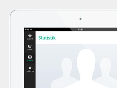 Basic Statistics ipad app event flat