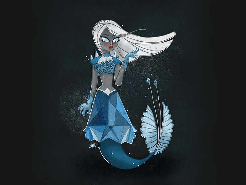 Arctic Mermaid frozen arctic procreate illustration mermay mermaid
