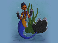 Princess Shuri Superhero Mermaid