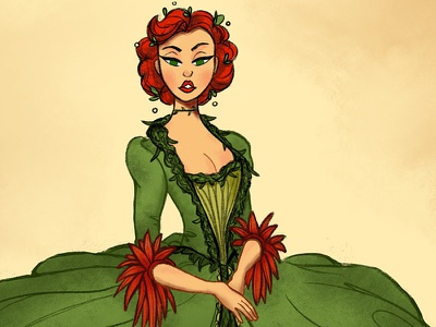 Baroque Poison Ivy character design baroque pamela isley poison ivy batman illustration character design challenge cdc