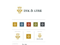 Ink and lyre brand board