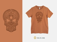 Ghostguard T-Shirt maze skull t-shirt design t-shirt dungeons and dragons apparel design apparel