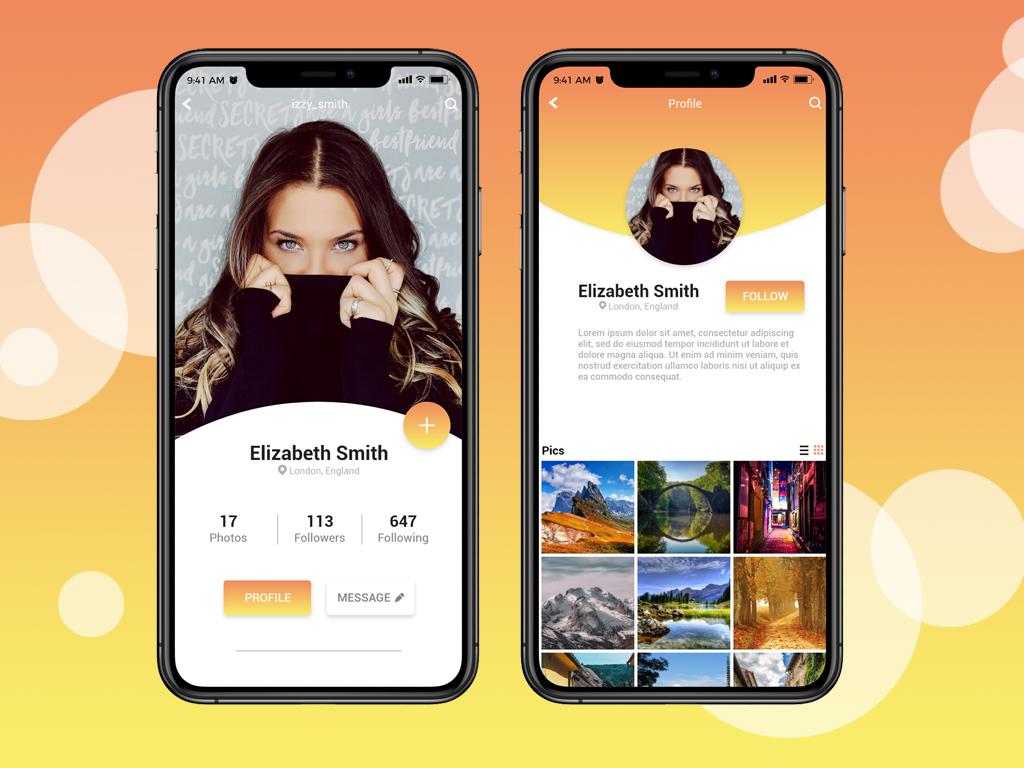 Daily UI #006 - User Profile user profile ui design mobile 006 daily ui adobe xd