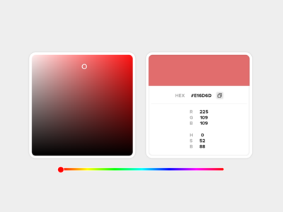 Daily UI #060 - Color Picker