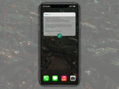 Daily UI #065 - Notes Widget