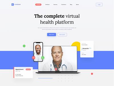 Health Platform Landing Page Redesign telemedicine art hero redesign website landing platform health