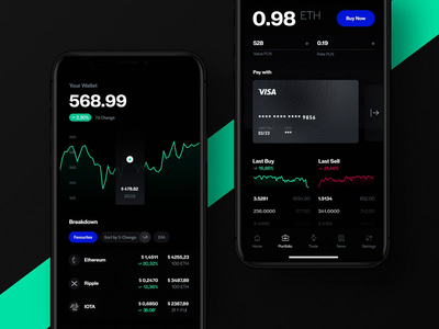 Crypto Wallet Glitch Transitions