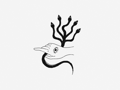 Enemy vector tattoo monoline line illustration black work black white blackandwhite