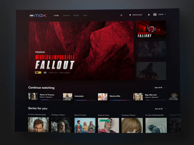 HBO Max Interaction Flow netflix movies motion max logo interaction hbo max hbo dark app after effects
