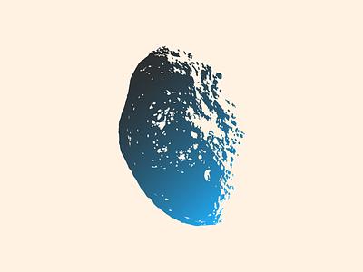 Hyperion illustration asteroid
