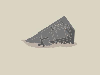 Crashed Star Destroyer t-shirt cotton bureau star destroyer star wars movie