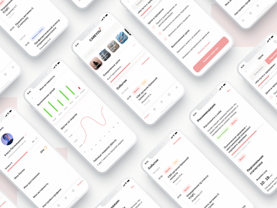 CareYou+ App figma interface typography ux color concept ui mobile minimal ios design clean app