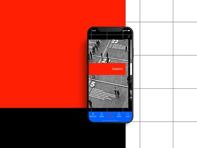 STRELKA Institute app conept Ep.1 brutalism typography ux ui mobile minimal ios design concept clean app