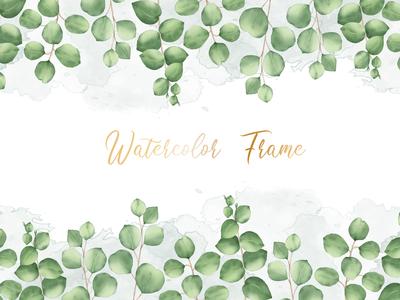 Watercolor floral frame multi purpose