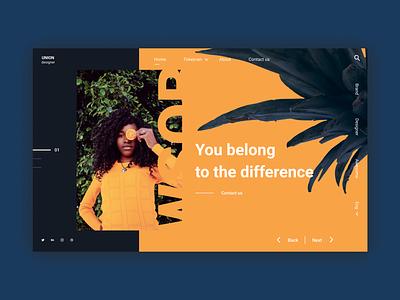 Union Designer web design ui