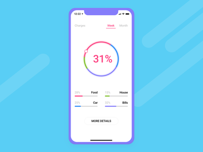 Tracer app design concept ui